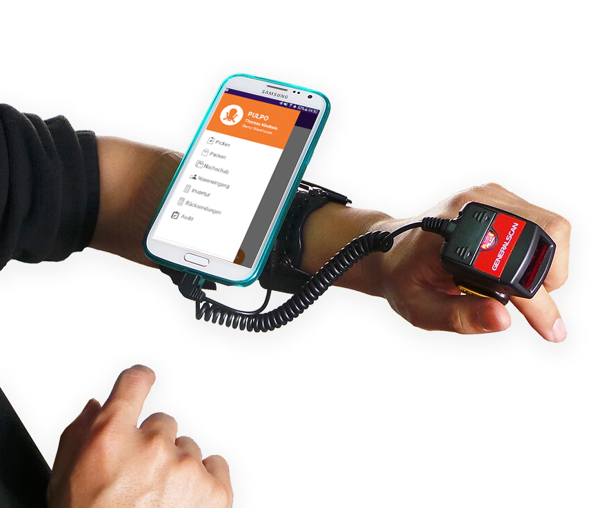 New Pulpo App Armband Ring Barcod Scanner